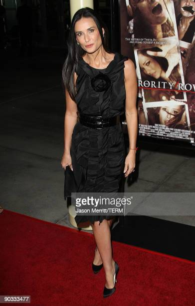 Actress Demi Moore arrives at Summit Entertainment's Premiere of Sorority Row at ArcLight Hollywood on September 3 2009 in Hollywood California