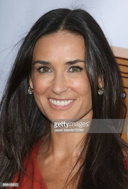 Actress Demi Moore arrives at the 5th Annual HollyShorts 2009 Opening Night Celebration held at the Directors Guild of America on August 6, 2009 in...