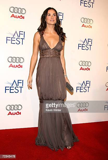 Actress Demi Moore arrives at the AFI FEST presented by Audi opening night gala of Bobby at the Grauman's Chinese Theatre on November 1 2006 in...