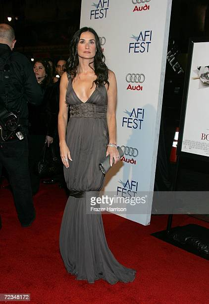 Actress Demi Moore arrives at the AFI FEST presented by Audi opening night gala of 'Bobby' at the Grauman's Chinese Theatre on November 1 2006 in...