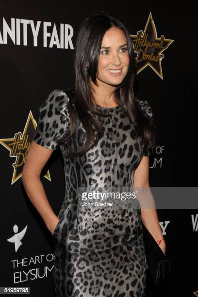 Actress Demi Moore arrives at the Bally and Vanity Fair Hollywood Domino Game Night benefiting The Art of Elysium held at Andaz on February 20, 2009...