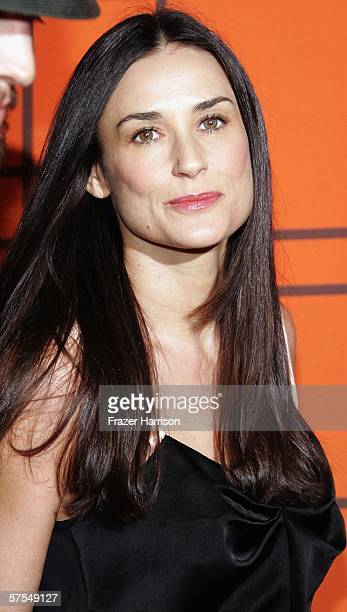 Actress Demi Moore arrives at the Fox Television 'That 70s Show' wrap party held at Tropicana at The Roosevelt Hotel on may 6 2006 in Hollywood...
