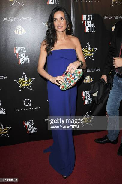 Actress Demi Moore arrives at the Hollywood Domino's 3rd annual preOscar Hollywood gala on March 4 2010 in Beverly Hills California