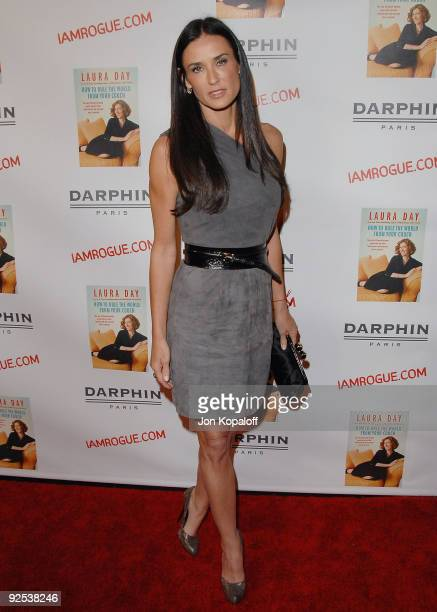 Actress Demi Moore arrives at the Laura Day Book Launch Party For 'How To Rule The World From Your Couch' at STK on October 19 2009 in Los Angeles...