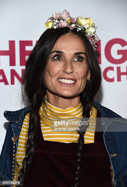 Actress Demi Moore arrives at the Opening Night of 'Hedwig and The Angry Inch' at the Pantages Theatre on November 2 2016 in Hollywood California