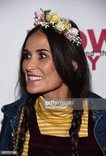 Actress Demi Moore arrives at the Opening Night of Hedwig and The Angry Inch at the Pantages Theatre on November 2 2016 in Hollywood California