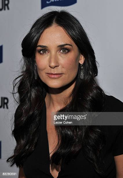 Actress Demi Moore arrives at the premiere of Glamour Reel Moments presented by Suave held at the Directors Guild of America on October 14 2008 in...