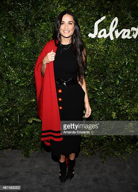 Actress Demi Moore arrives at the Salvatore Ferragamo 100 Years In Hollywood celebration at the newly unveiled Rodeo Drive flagship Salvatore...