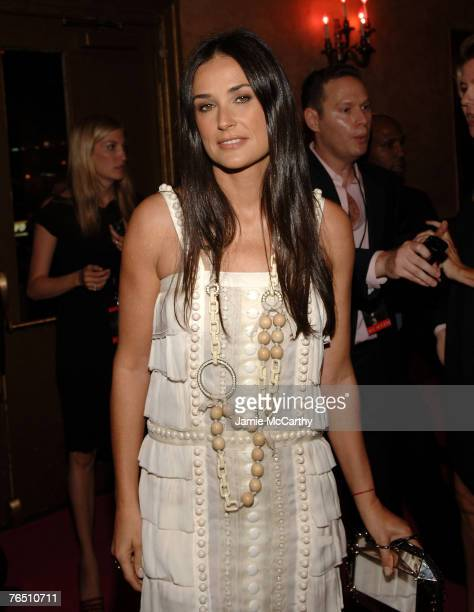 "Actress Demi Moore arrives during ""Une Journe A Paris"" hosted by Van Cleef & Arpels at Hammerstein Ballroom on September 4, 2007 in New York City."