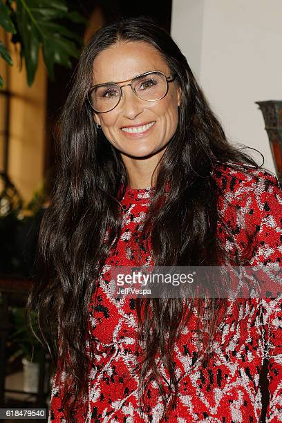 Actress Demi Moore at the CFDA/Vogue Fashion Fund Show and Tea presented by kate spade new york at Chateau Marmont on October 26 2016 in Los Angeles...