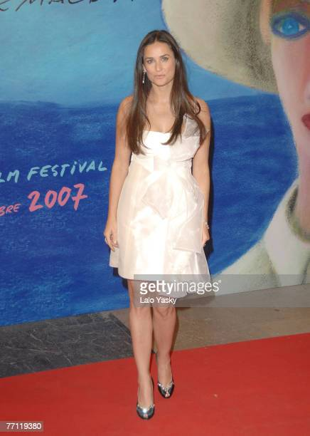 """Actress Demi Moore attends """"Flawless"""" world premiere and San Sebastian Film Festival awards ceremony at the Kursaal Palace September 29, 2007 in San..."""