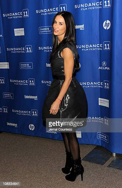 Actress Demi Moore attends Margin Call Premiere at the Eccles Center Theatre during the 2011 Sundance Film Festival on January 25 2011 in Park City...