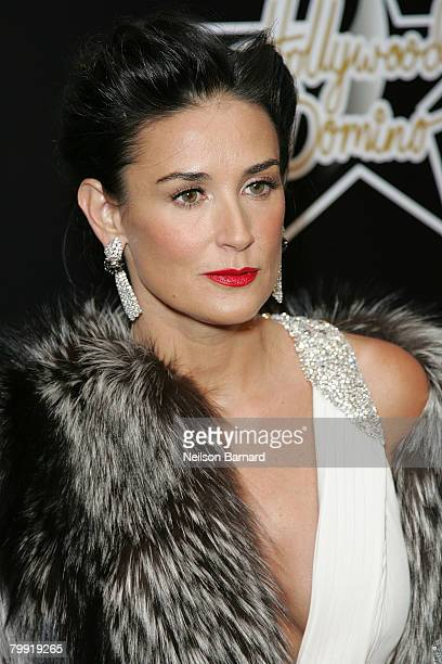 Actress Demi Moore attends the 1st Hollywood Domino Tournament hosted by De Grisogono at the Beverly Hills Hotel on February 21 2008 in Beverly Hills...