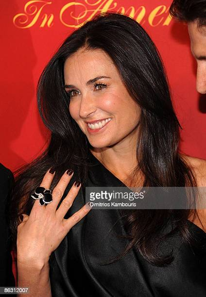 Actress Demi Moore attends the Cartier 100th Anniversary in America Celebration at Cartier Fifth Avenue Mansion on April 30 2009 in New York City