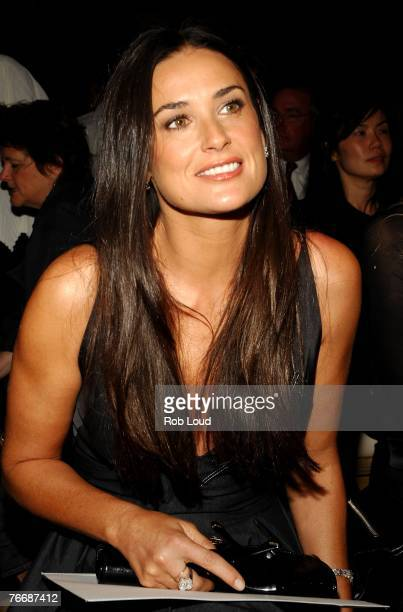 Actress Demi Moore attends the Donna Karan Collection 2008 Fashion Show during the MercedesBenz Fashion Week Spring 2008 on September 12 2007 in New...