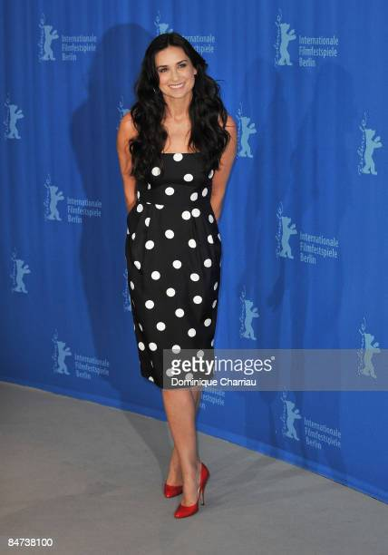 Actress Demi Moore attends the 'Happy Tears' photocall during the 59th Berlin International Film Festival at the Grand Hyatt Hotel on February 11...