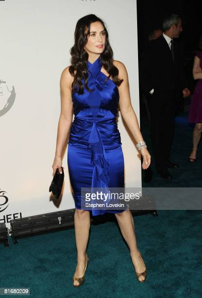 Actress Demi Moore attends the launch of Trump International Hotel and Tower Dubai on June 23 2008 at the Park Avenue Plaza in New York City