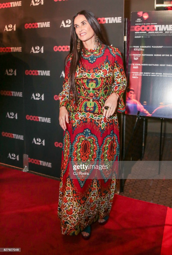 Actress Demi Moore attends the New York premiere of 'Good Time' at SVA Theater on August 8, 2017 in New York City.