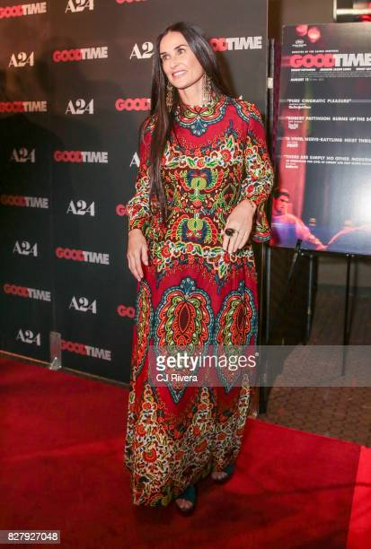 Actress Demi Moore attends the New York premiere of 'Good Time' at SVA Theater on August 8 2017 in New York City