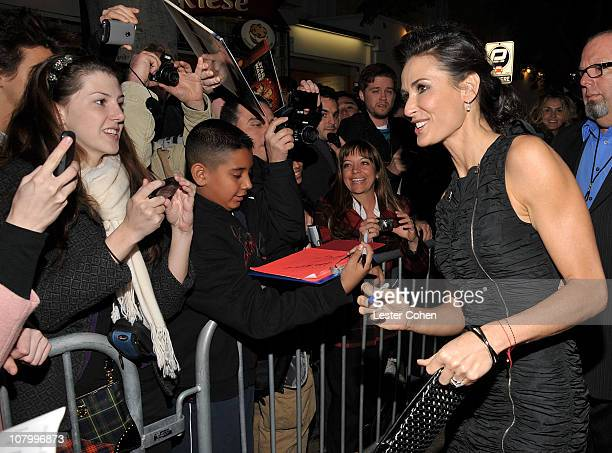 "Actress Demi Moore attends the ""No Strings Attached"" Los Angeles Premiere at Regency Village Theatre on January 11, 2011 in Westwood, California."