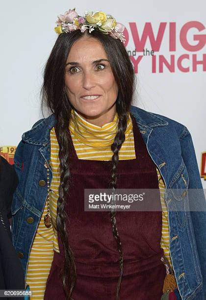 Actress Demi Moore attends the opening night of 'Hedwig And The Angry Inch' at the Pantages Theatre on November 2 2016 in Hollywood California