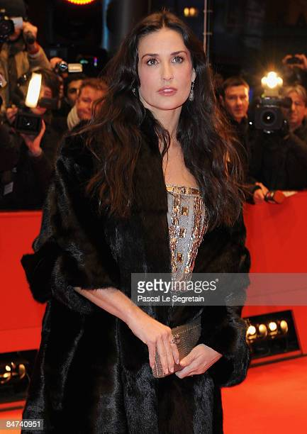 Actress Demi Moore attends the premiere for 'Happy Tears' as part of the 59th Berlin Film Festival at the Berlinale Palast on February 11 2009 in...