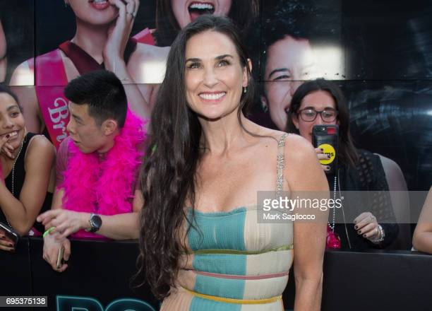 """Actress Demi Moore attends the """"Rough Night"""" New York premiere at AMC Lowes Lincoln Square on June 12, 2017 in New York City."""