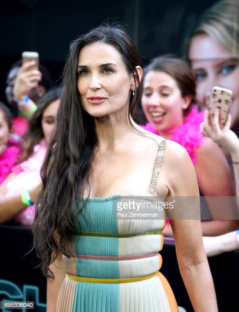 Actress Demi Moore attends the 'Rough Night' New York Premiere on June 12 2017 in New York City