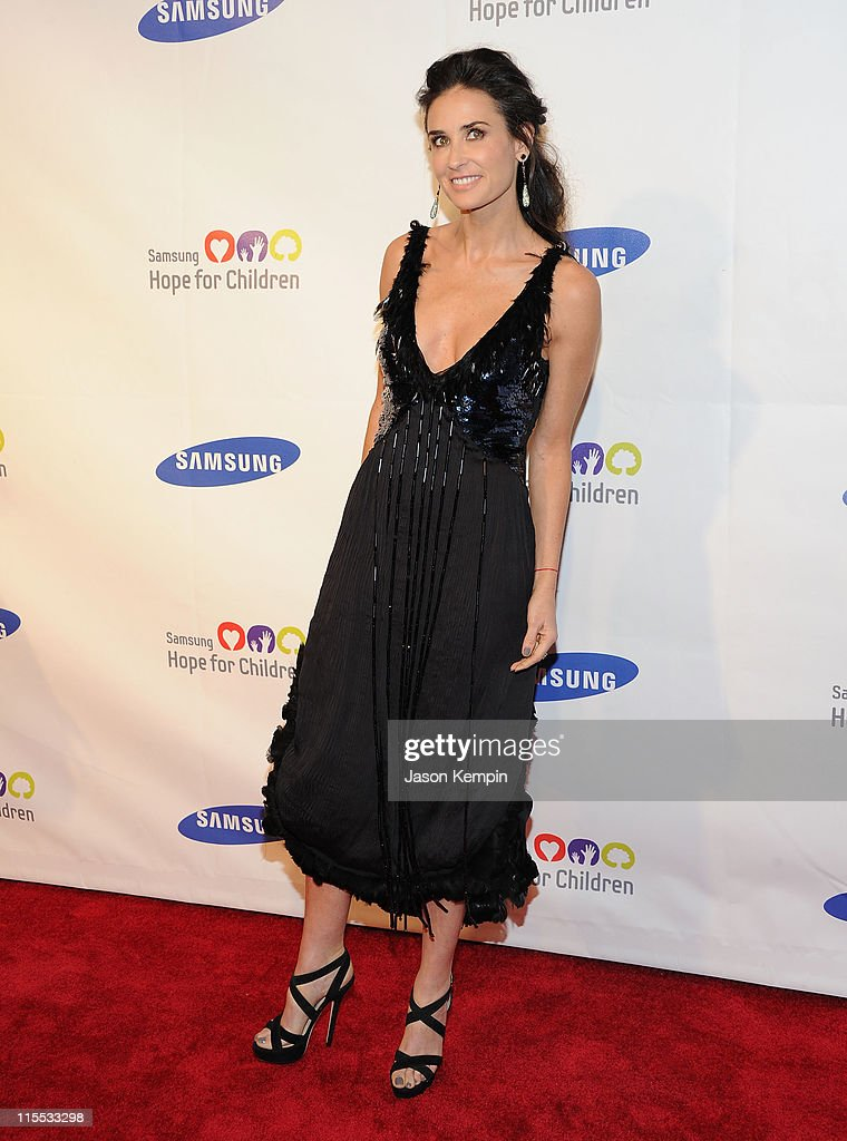 Actress Demi Moore attends the Samsung Hope for Children gala at Cipriani Wall Street on June 7, 2011 in New York City.