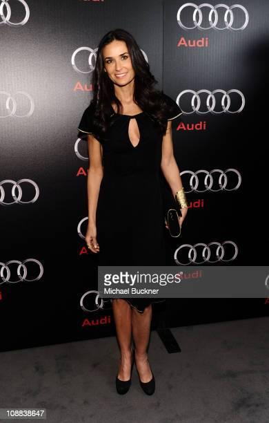 Actress Demi Moore attends the Super Bowl 2011 Audi Celebration at the Audi Forum Dallas on February 4, 2011 in Dallas, Texas.