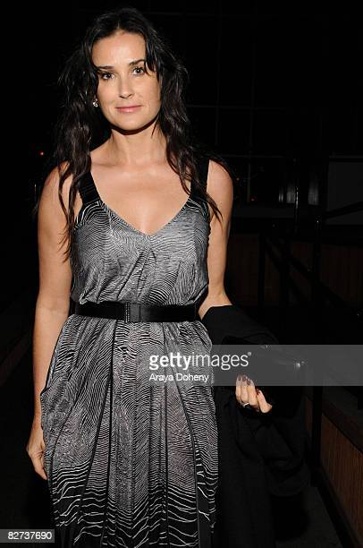 Actress Demi Moore attends the TechCrunch 50 Conference 2008 VIP dinner party at the San Francisco Design Center on September 8, 2008 in San...