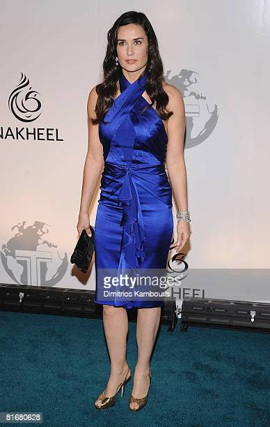 Actress Demi Moore attends the Trump International Hotel and Tower Dubai launch on June 23 2008 at The Park Avenue Plaza in New York