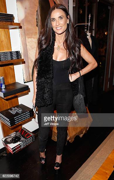 Actress Demi Moore attends the Urban Zen LA Opening on November 9 2016 in Los Angeles California