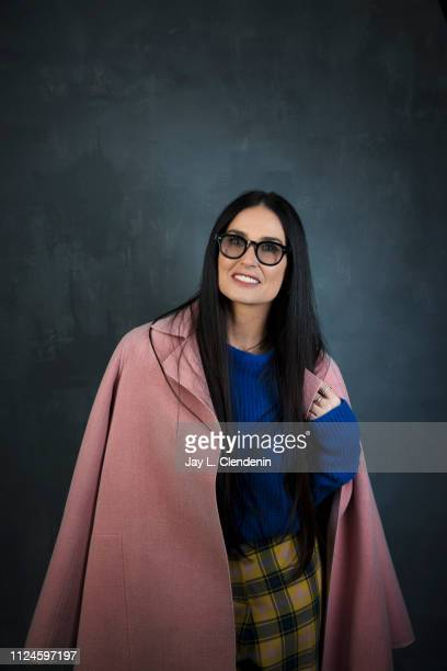 Actress Demi Moore from 'Corporate Animals' is photographed for Los Angeles Times on January 28 2019 at the 2019 Sundance Film Festival in Salt Lake...