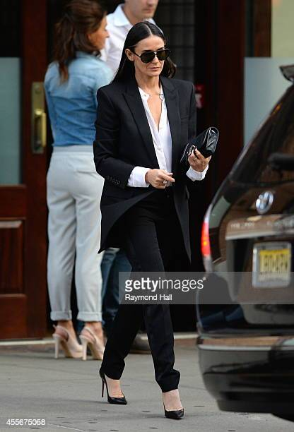 Actress Demi Moore is seen in Soho on September 18 2014 in New York City