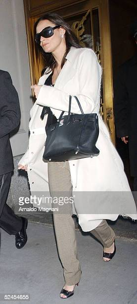Actress Demi Moore leaves Central Park West apartment for NBC studios March 19 2005 in New York City Moore is going to participate in Saturday Night...