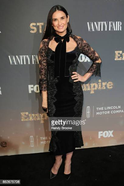 Actress Demi Moore poses on the red carpet during the 'Empire' 'Star' Celebrate FOX's New Wednesday Night at One World Observatory on September 23...