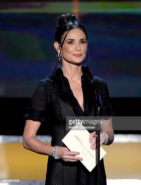 Actress Demi Moore speaks onstage during the 22nd Annual Screen Actors Guild Awards at The Shrine Auditorium on January 30 2016 in Los Angeles...