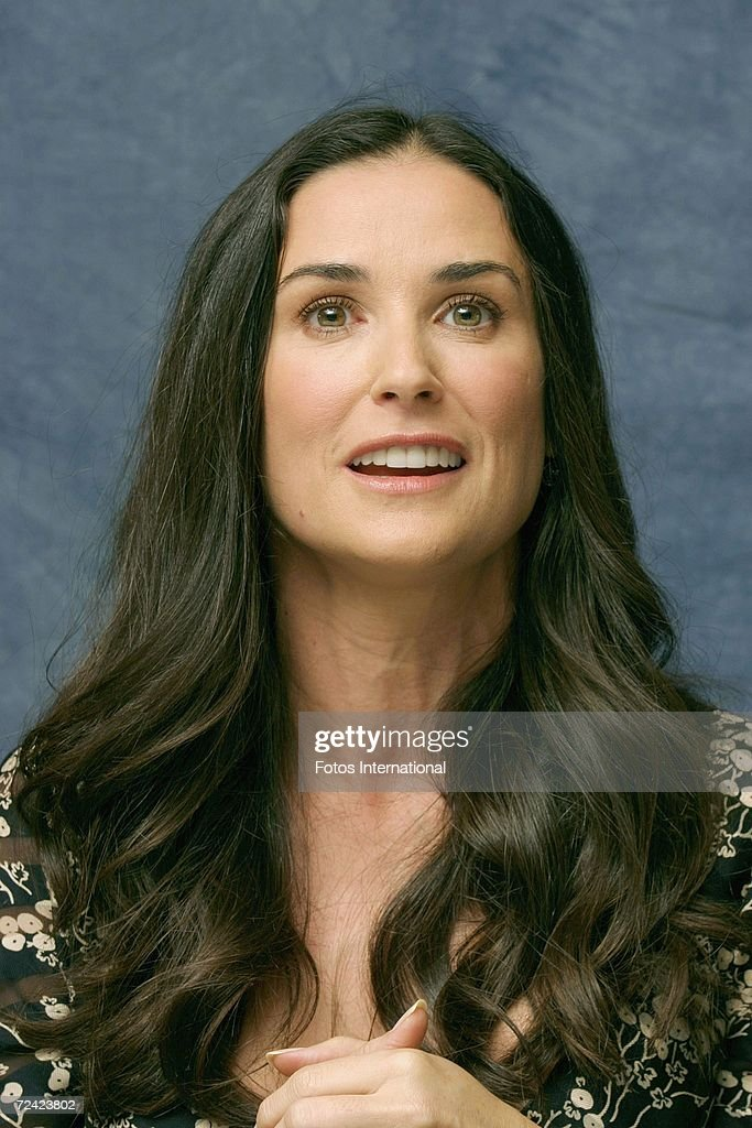 Actress Demi Moore talks at the Regent Beverly Wilshire Hotel on November 2, 2006 in Los Angeles, California.