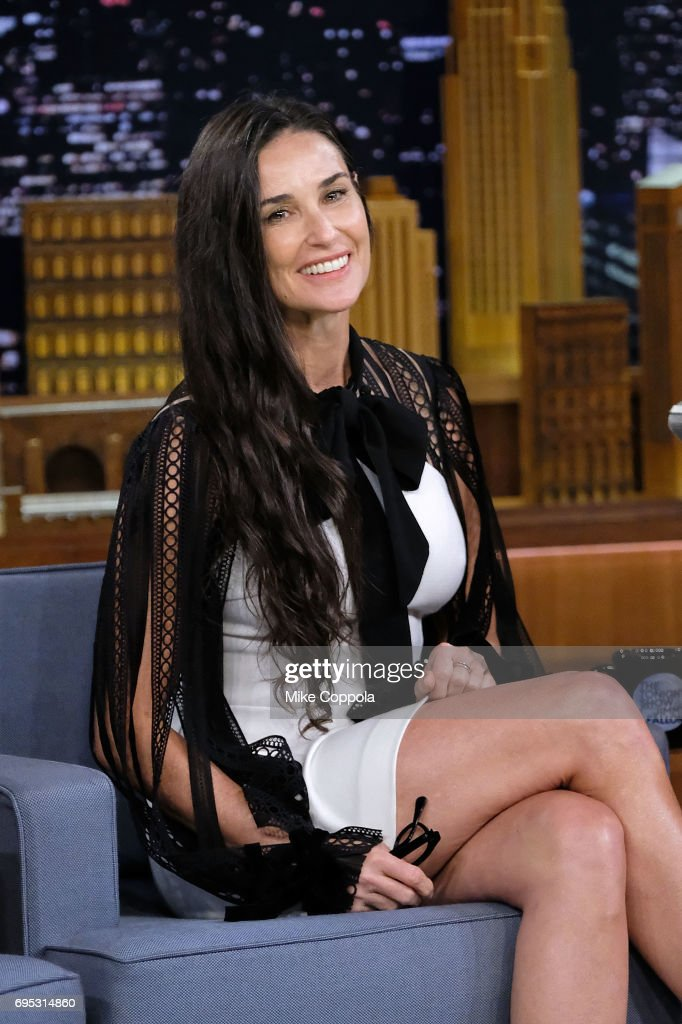 "Demi Moore Visits ""The Tonight Show Starring Jimmy Fallon"""