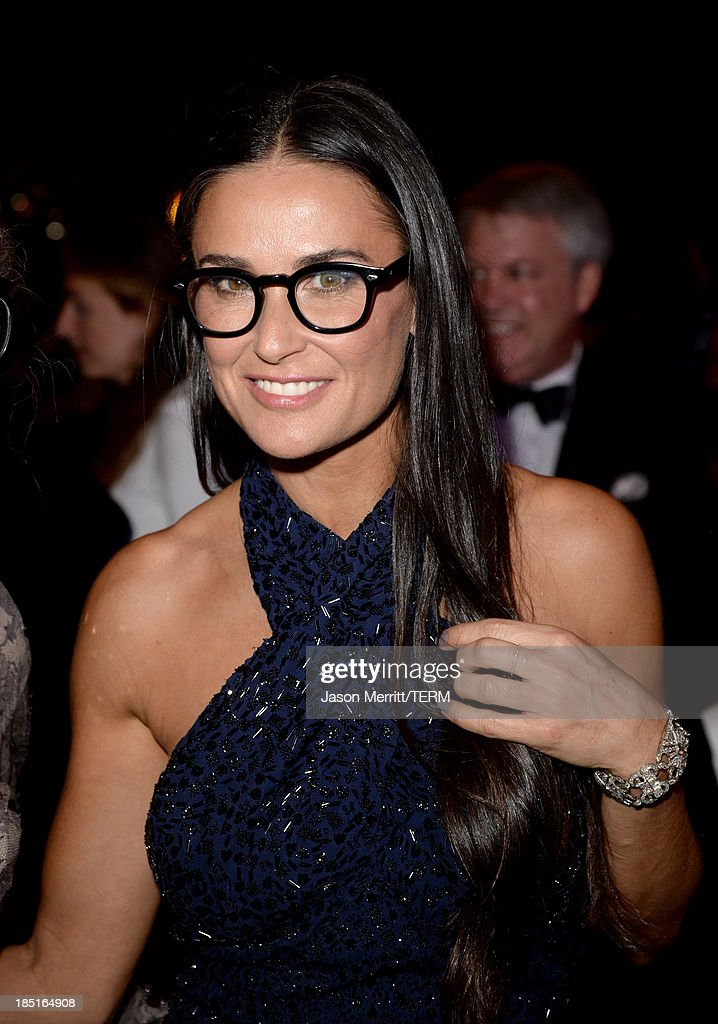 Actress Demi Moore, wearing Ferragamo, attends the Wallis Annenberg Center for the Performing Arts Inaugural Gala presented by Salvatore Ferragamo at the Wallis Annenberg Center for the Performing Arts on October 17, 2013 in Beverly Hills, California.