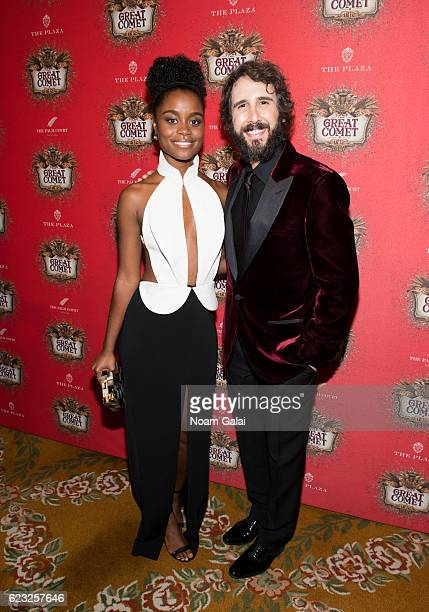 """Actress Denee Benton and singer Josh Groban attend the after party for the """"Natasha, Pierre & The Great Comet Of 1812"""" opening night on Broadway at..."""