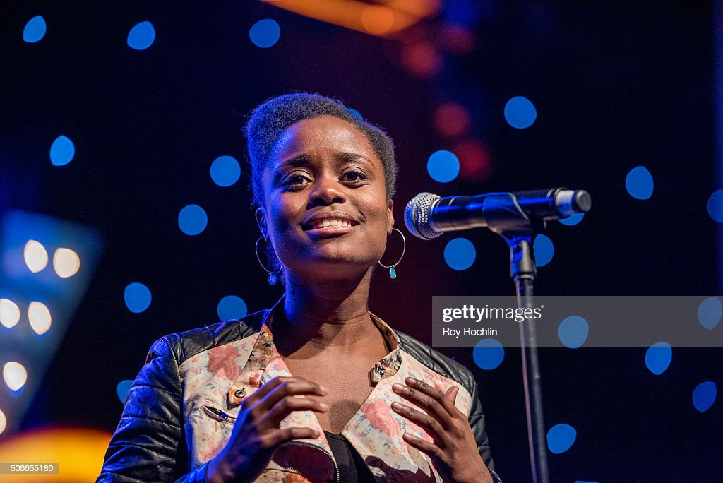 Actress Denee Benton attends BroadwayCon 2016 at the New York Hilton Midtown on January 24, 2016 in New York City.