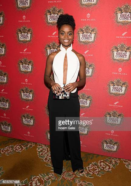 """Actress Denee Benton attends the after party for the """"Natasha, Pierre & The Great Comet Of 1812"""" opening night on Broadway at The Plaza Hotel on..."""