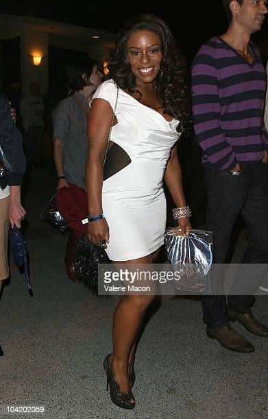 Actress Denee Busby attends Premiere Of HBO's East Bound And Down 2nd Season After Partyon September 16 2010 in Hollywood California