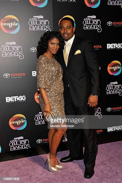 Actress Denise Boutte and actor Lamman Rucker attend the 2010 Soul Train Awards at the Cobb Energy Center on November 10 2010 in Atlanta Georgia