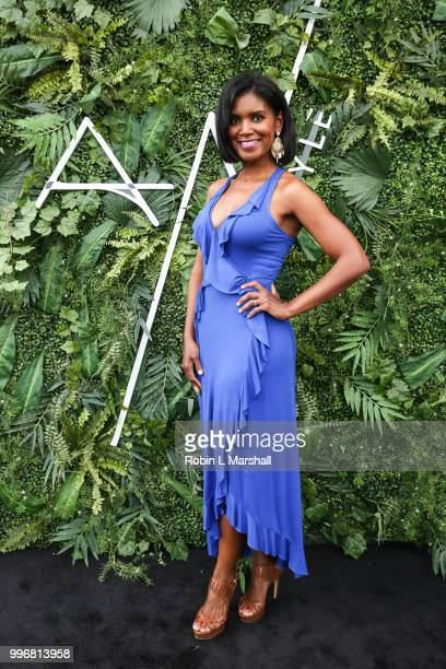 Actress Denise Boutte attends Ashley North's Launch of 'AN STYLE' Candles at IceLink Boutique and Rooftop Lounge on July 11 2018 in West Hollywood...