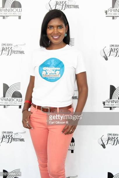 Actress Denise Boutte attends the 31st Annual Long Beach Jazz Festival at Rainbow Lagoon Park on August 11 2018 in Long Beach California