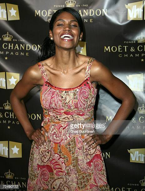 Actress Denise Boutte attends VH1 and Moet Chandon's kick off the new season of Fabulous Life at a private residence on November 9 2006 in Los...