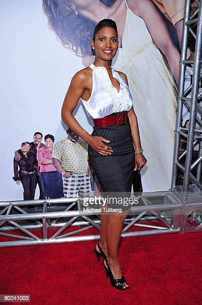 Actress Denise Boutte poses on the red carpet at the premiere of Meet The Browns at the Cinerama Dome theater on March 13 2008 in Los Angeles...